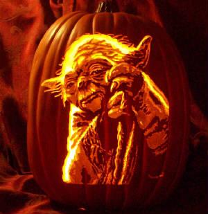 Pumpkin Geek Yoda